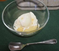 ゴマ油とアイス